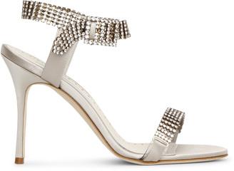 Manolo Blahnik Bashifa jewel satin sandals