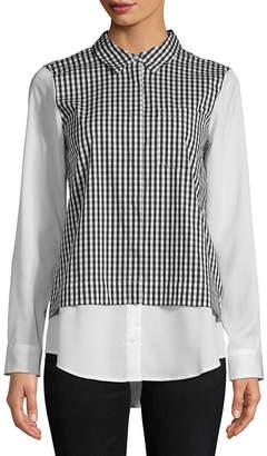 Calvin Klein Pointed Gingham Button-Down Shirt