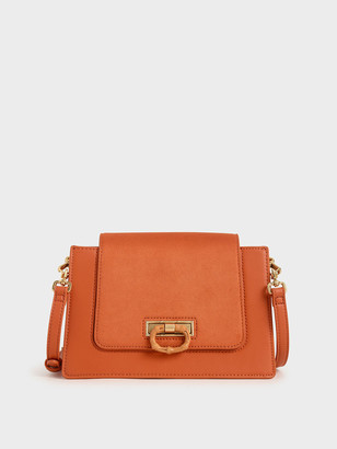 Charles & Keith Textured Crossbody Bag