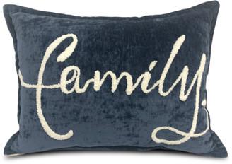 "Urban Shop Family"" Embroidered Throw Pillow"