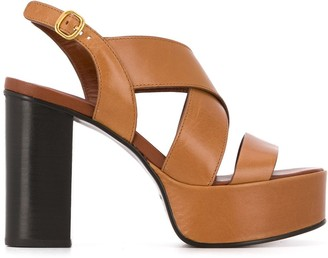 See by Chloe Strappy Platform High Heel Sandals