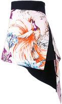 Fausto Puglisi asymmetric printed mini skirt