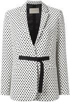 Christian Wijnants 'Jemima' polka dots blazer - women - Cotton/Polyester/Spandex/Elastane/Viscose - 36