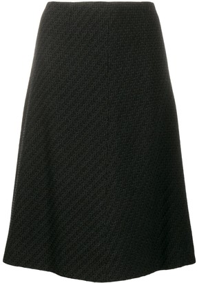 Chanel Pre Owned woven A-line knee-length skirt