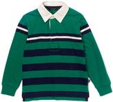 E-Land Kids Jade & Navy Rugby-Stripe Polo - Boys