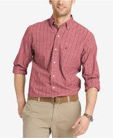 Izod Men's Windowpane Check Long-Sleeve Shirt