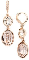 Givenchy Women's Double Drop Crystal Earrings
