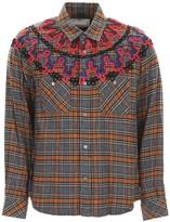 Sacai Embroidered Check Shirt