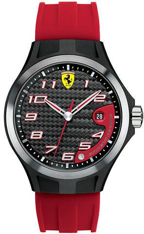 Ferrari Men's Lap Time Black & Red Watch
