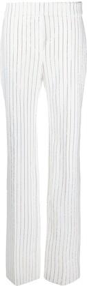 Alexandre Vauthier Pinstripe Print Trousers