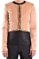 Elisabetta Franchi Women's Beige Polyester Jacket.