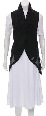 Ann Demeulemeester Wool Embroidered- Accented Vest