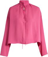 Balenciaga Long-sleeved silk blouse