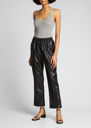 JONATHAN SIMKHAI STANDARD Tay Vegan-Leather Cropped Pants