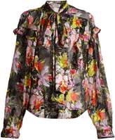 Preen by Thornton Bregazzi Cora floral-print silk-blend jacquard shirt