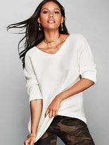New York & Co. Lurex V-Neck Dolman Sweater