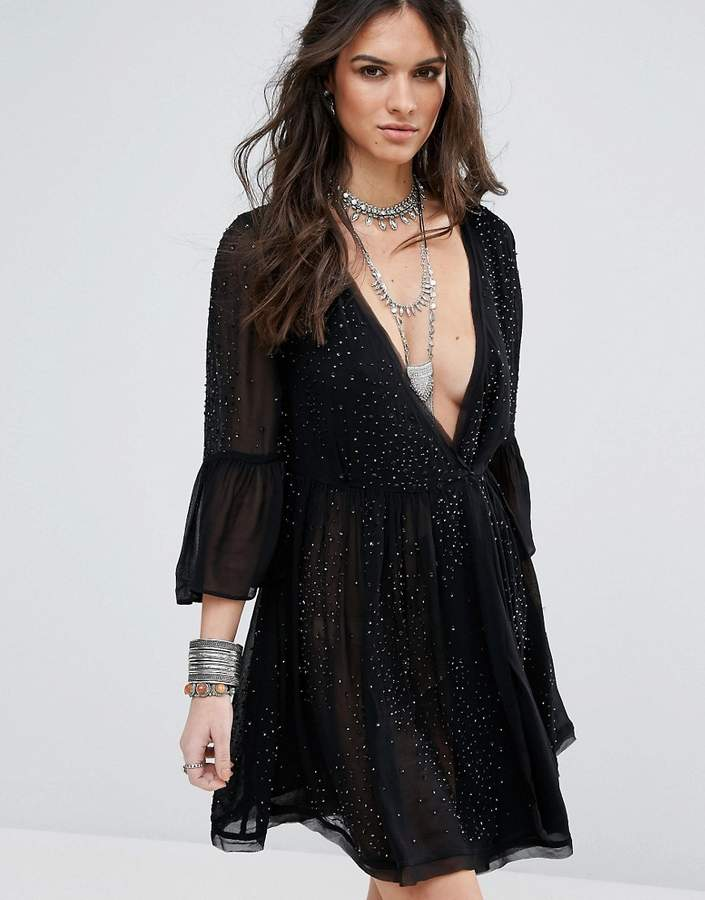 Free People Winter Solstice Embellished Party Dress
