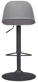Orren Ellis Noma Swivel Adjustable Height Bar Stool Color: Gray
