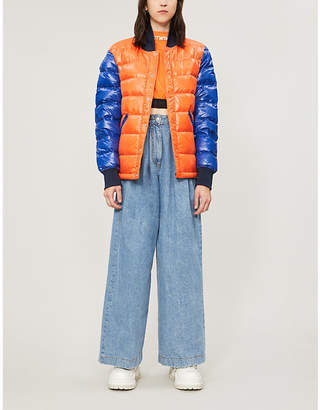 Benetton Colour-blocked padded shell jacket