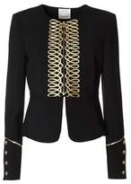 Pinko Women's Black Polyester Jacket.