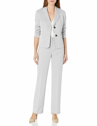 Le Suit LeSuit Women's Textured 2 Bttn Notch Lapel Pant Suit