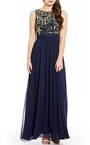 B. Darlin Sequin Embellished Bodice Long Dress