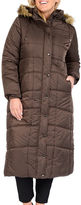 Excelled Leather Excelled Faux-Fur Trim Long Puffer Jacket - Plus