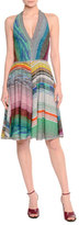 Missoni Halter-Neck Fit-&-Flare Dress, Multi Colors