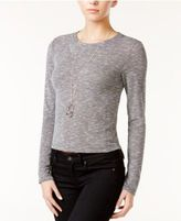 Bar III Marled Cropped Top, Only at Macy's