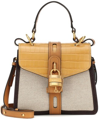 Chloã© Aby Day Small canvas shoulder bag
