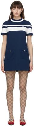Gucci Blue Striped Dress