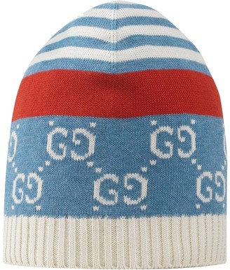 Gucci Kids GG knitted beanie hat