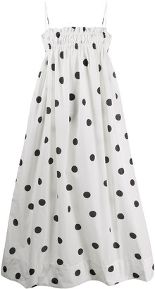 Ganni Polka Dot Tent Dress