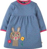 Frugi Organic Baby Dolcie Bunny Dress, Blue