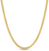 """Zales 14K Gold 1.0mm Wheat Chain Necklace - 18"""""""
