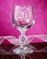 Fashion World Personalised Birthday Wine Glass