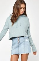 PacSun Frayed Exposed Button Skirt