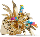 Rosantica Tropicale Gold-tone Quartz Ring - L