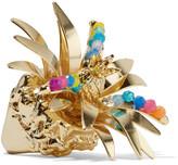 Rosantica Tropicale Gold-tone Quartz Ring - S