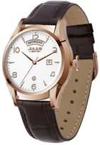 Julius Limited Edition JAL-034D Men's Arabic Numbers Quartz Analog Calendar Watch