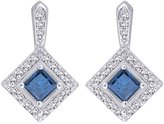 KATARINA 14K White Gold 1 1/10 ct. Diamond Fashion Earrings with Center Diamond