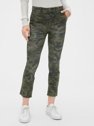Gap Girlfriend Utility Chino Pants with Raw Hem