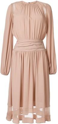 No.21 ruffled midi dress
