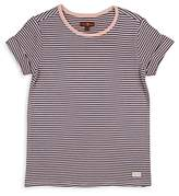 7 For All Mankind Girls' Ribbed & Striped Tee - Big Kid