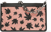 Alexander Wang Attica printed elaphe and leather clutch