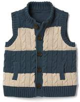 Gap Stripe cable knit sweater vest