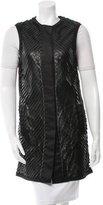 J. Mendel Textured Leather Vest