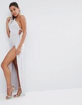 Asos Design One Shoulder Maxi Dress with Exposed Zip