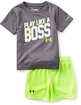 Under Armour Baby Boys 12-24 Months Play Like A Boss Tee & Shorts Set