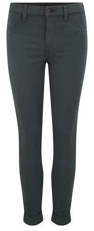 J Brand Jeans Anja Cuffed Skinny Crop Jean in Granite